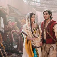 Naomi Scott and Mena Massoud in Aladdin