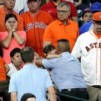 Astros fan struck by baseball Minute Maid Park Ken Hoffman