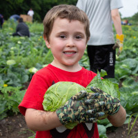 San Antonio Food Bank farming child