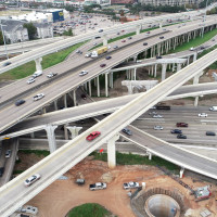 Houston I-69 610 loop interchange