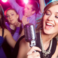 karaoke people signing the highball