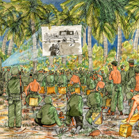 """World War II Art of Private Charles J. Miller"" opening"