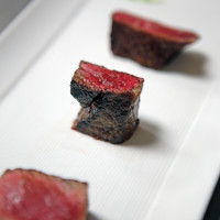 Austin Simmons Tris HeartBrand Beef steak flight