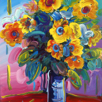 """Peter Max: """"The Retrospective - Back to Woodstock"""" 50th Anniversary opening preview"""