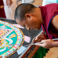 Mandala Sand Painting by the Mystical Arts of Tibet