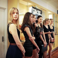 Texas Fashion Industry Initiative models waiting