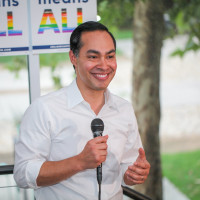 Julian Castro Pride event