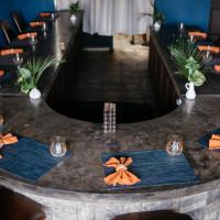 Restaurant Indigo interior counter