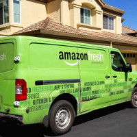 AmazonFresh truck delivery