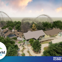 Rendering of the Texas Stingray roller coaster that will open at SeaWorld San Antonio in spring 2020.