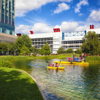 Discovery Green presents Kayak Rides and R/C Boats on Kinder Lake