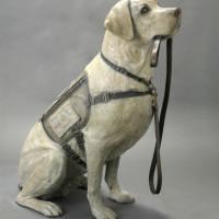 George HW Bush Sully dog statue