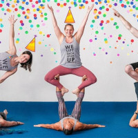 AcroYoga Class + B-Day Party