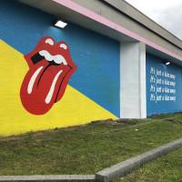 Rolling Stones Mural in Austin