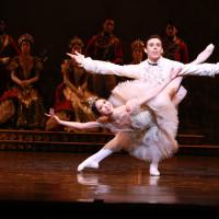 Houston Ballet principals Connor Walsh as Price Florimund and Yuriko Kajiya as Princess Aurora in Ben Stevenson's The Sleeping Beauty
