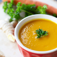 Juice Junkies carrot ginger soup