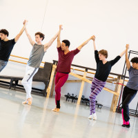 Artists of Houston Ballet rehearsing Trey McIntyre's Pretty Things.