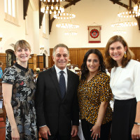 Breakthrough Houston Luncheon 2020 Tony Danza Vicky Wight, Tony Danza, Kelli Kickerillo, and Sarah Punches