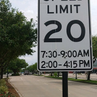 Ken Hoffman Southside Place speed sign