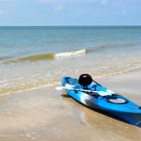 Bolivar Peninsula beach kayak