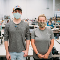 Jon hard designs covid-19 fabric face masks factory