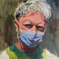 "Jay Wilkinson, ""PPE,"" 2020, acrylic on canvas"