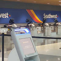 Southwest Airlines counter empty Houston