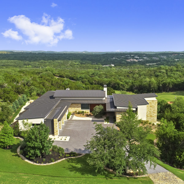 Incredible views and sophisticated style abound at this Austin estate