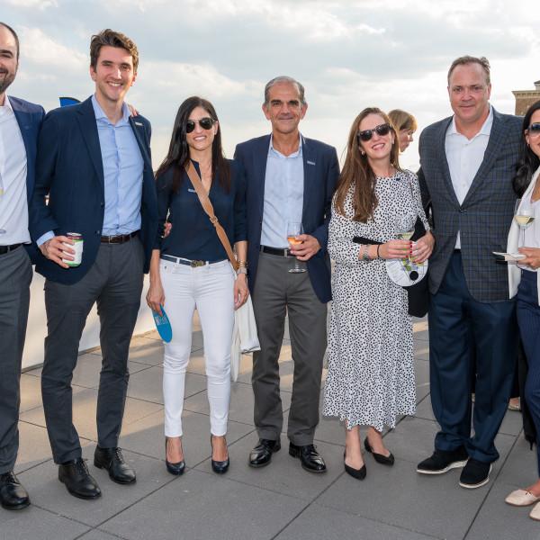 Houston power brokers and global bankers toast MFAH's rooftop garden