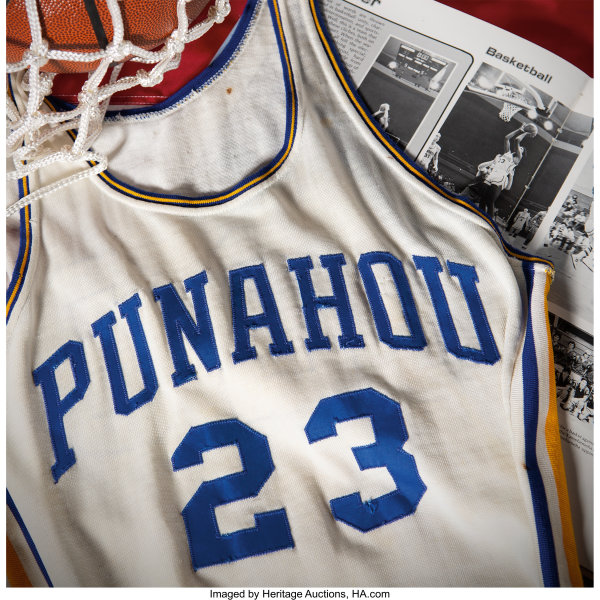 Obama's high school basketball jersey scores $120K at Dallas auction