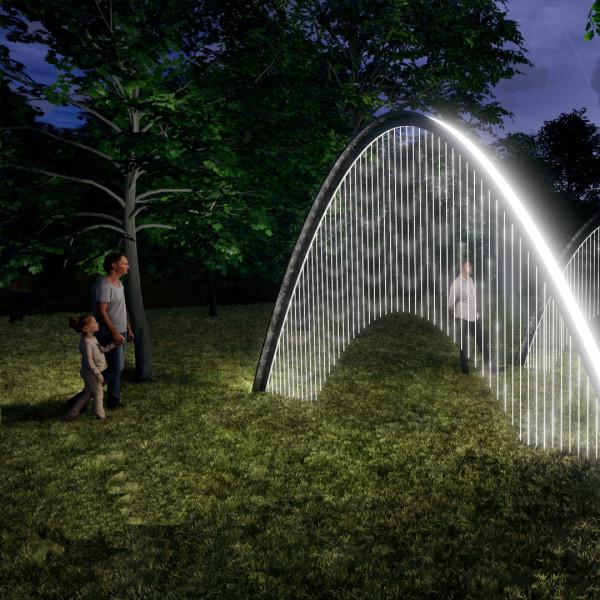 Fantastical new Austin light show shines spotlight on famous gardens