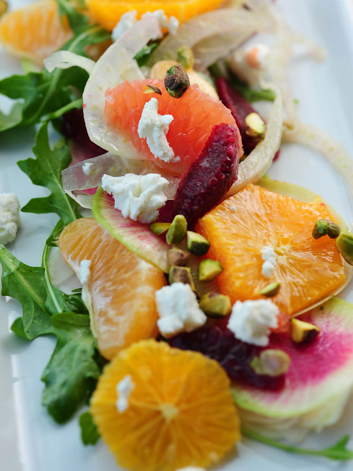 Citrus, fennel, radish and beet salad