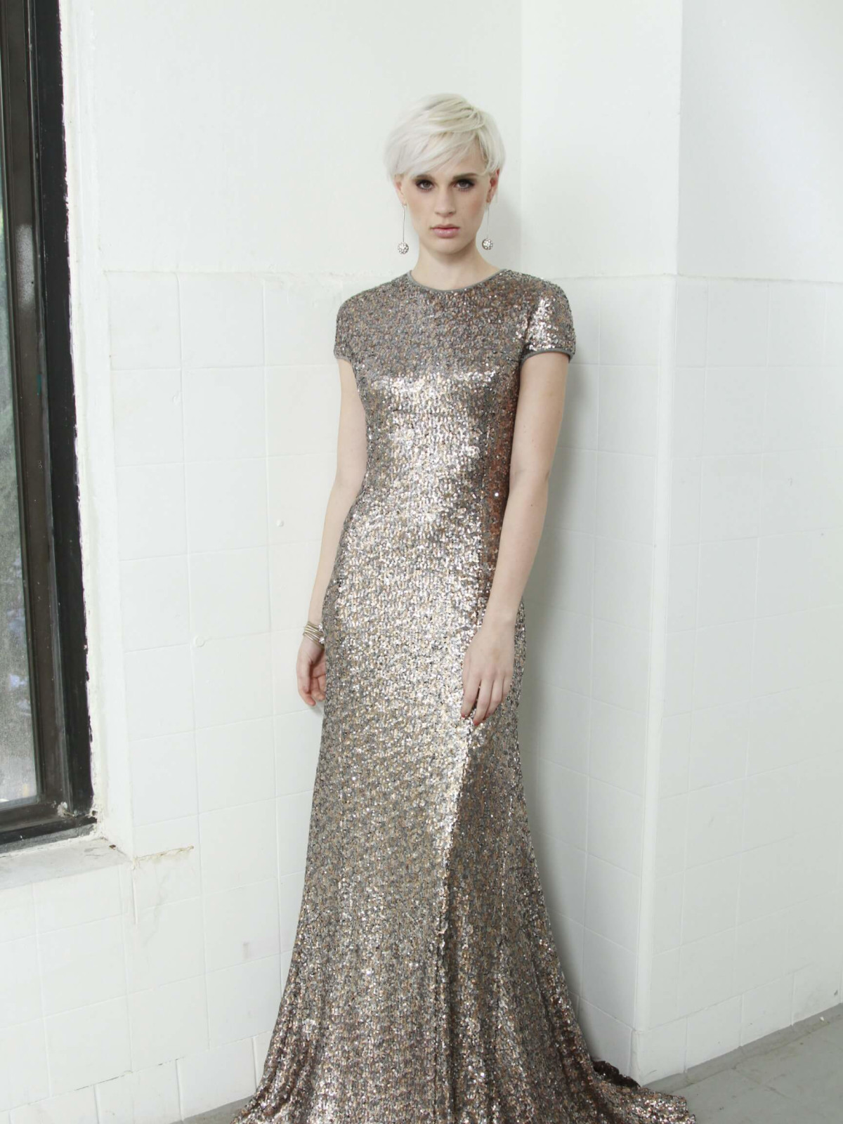 Kevan Hall sequined gown
