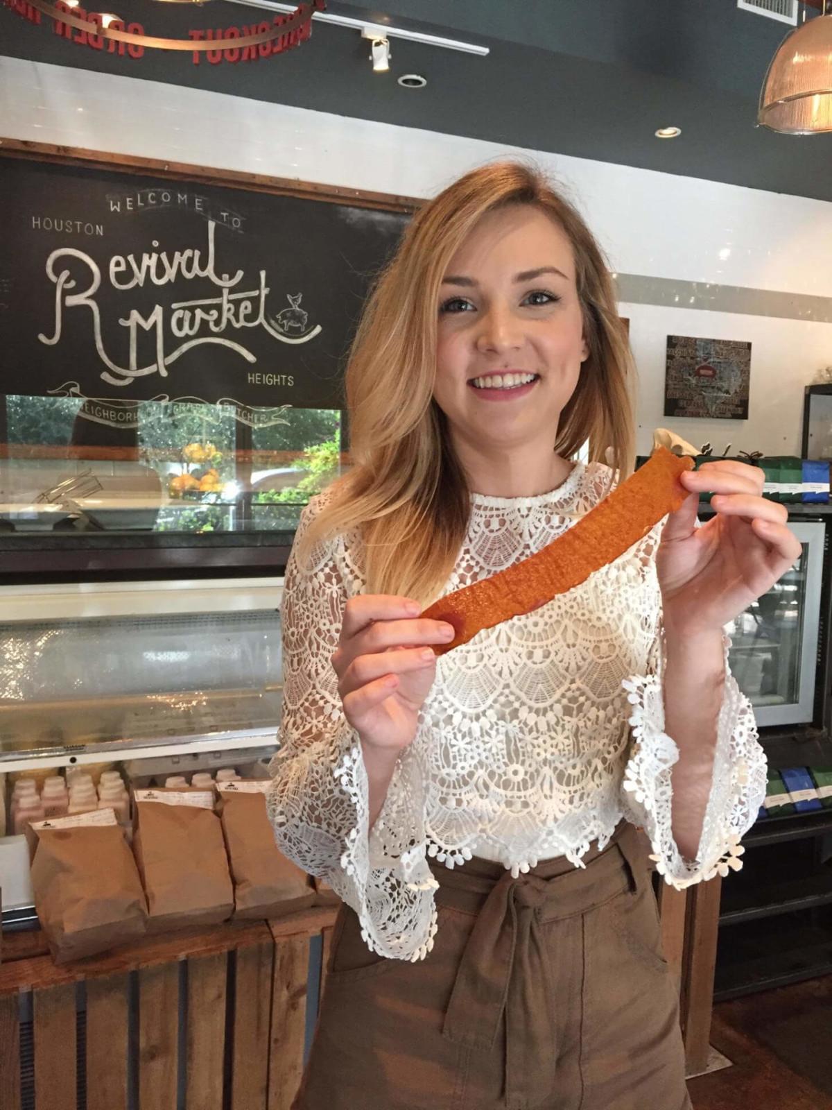 Revival Market baker Valeria Trasatti with Fruit Leather Jacket