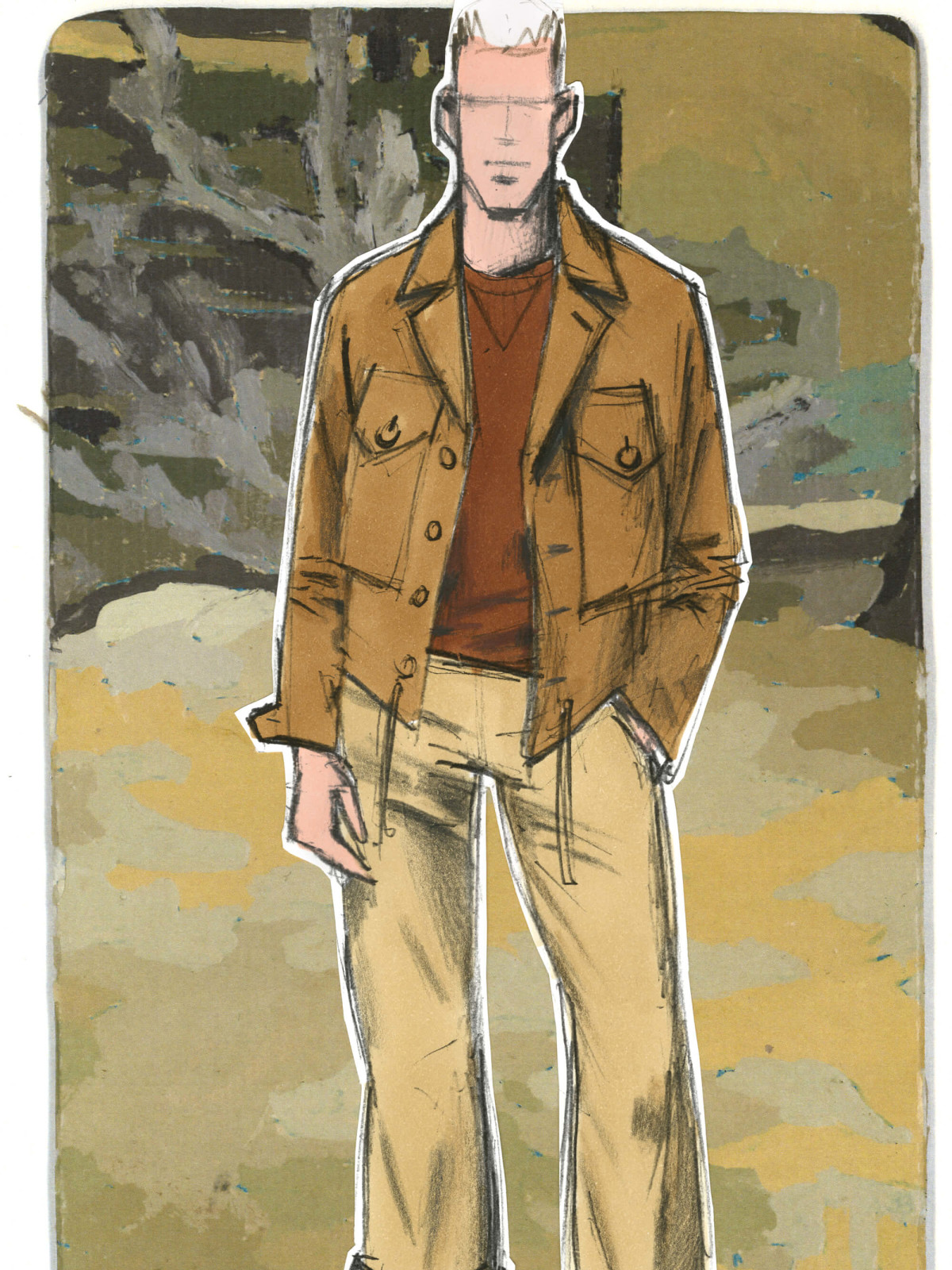 J Crew menswear designer inspiration sketch Frank Muytjens