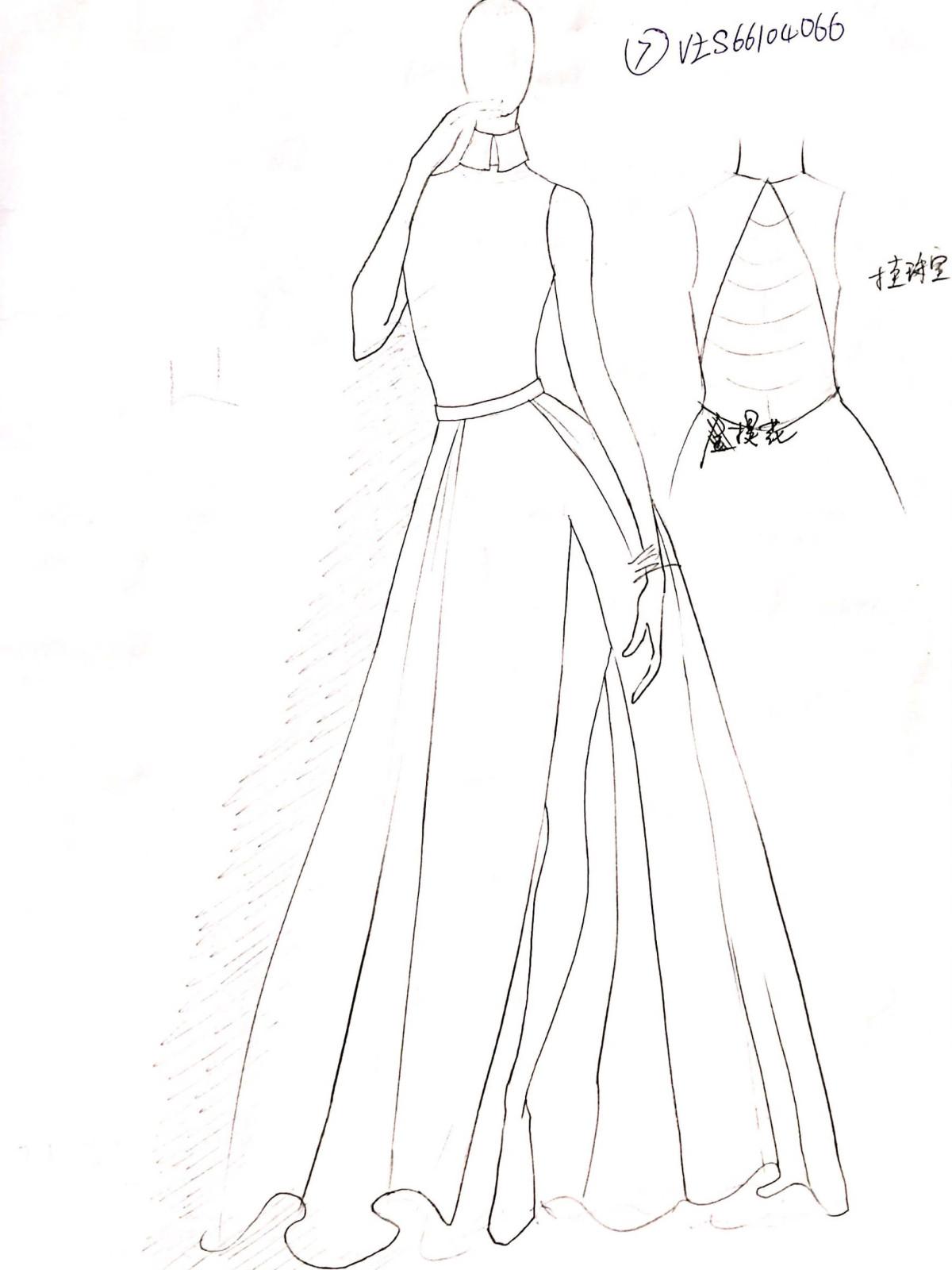 Vicky Zhang designer inspiration sketch spring 2017