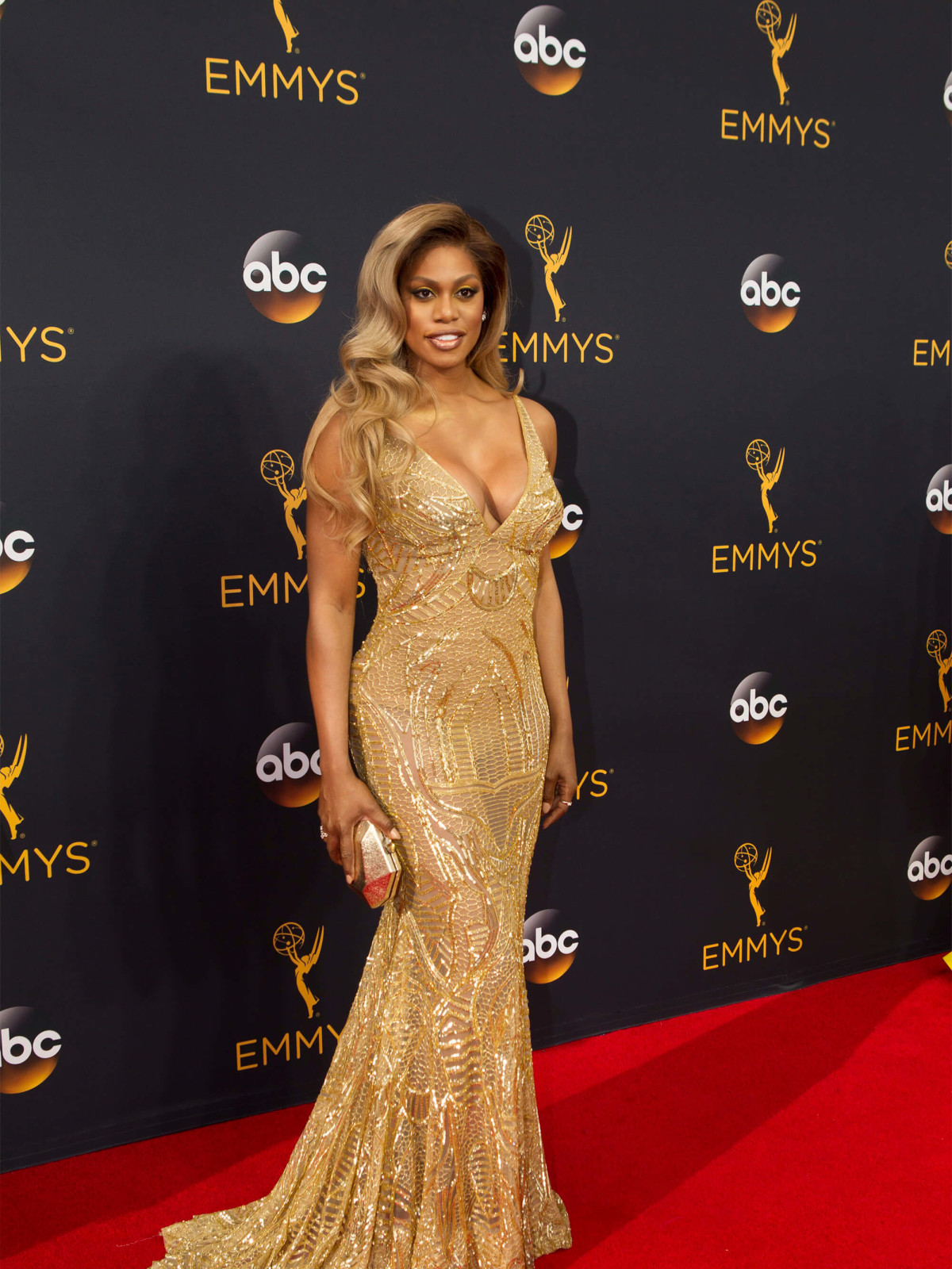 Laverne Cox in Naeem Khan gown at Emmy Awards