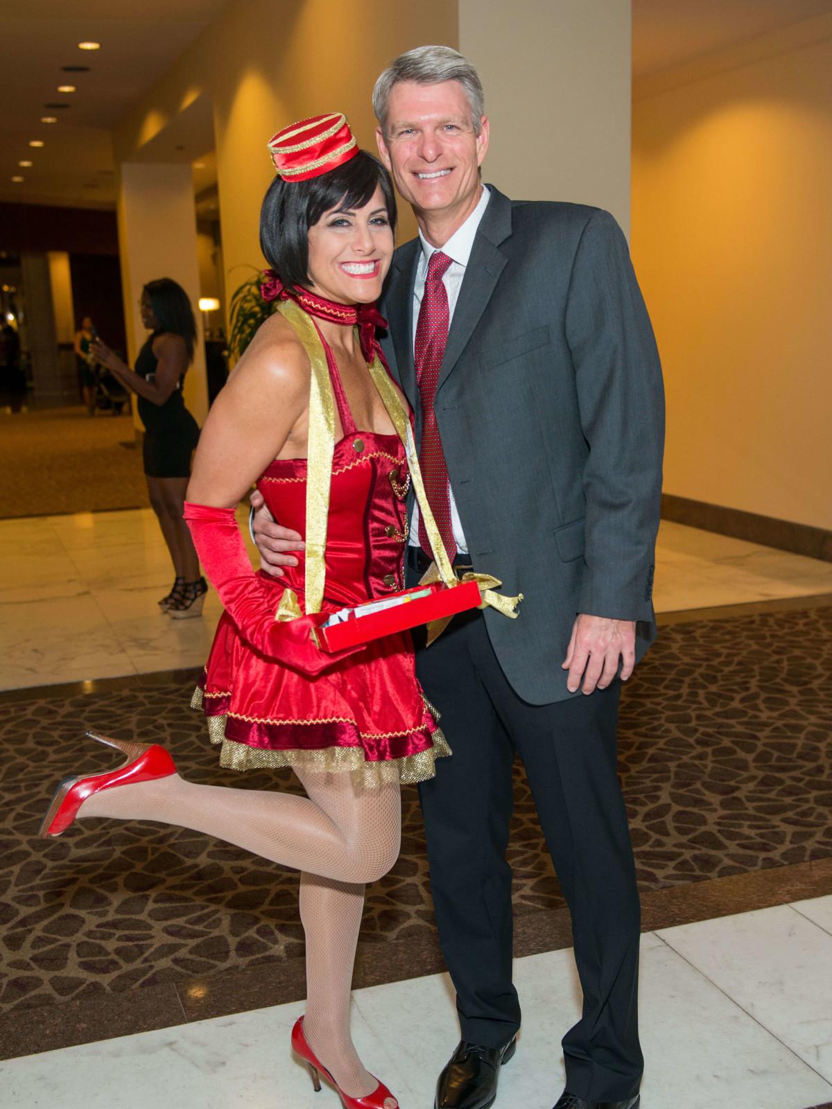 Adele Hartland, Jason Herbert at Mission of Yahweh gala