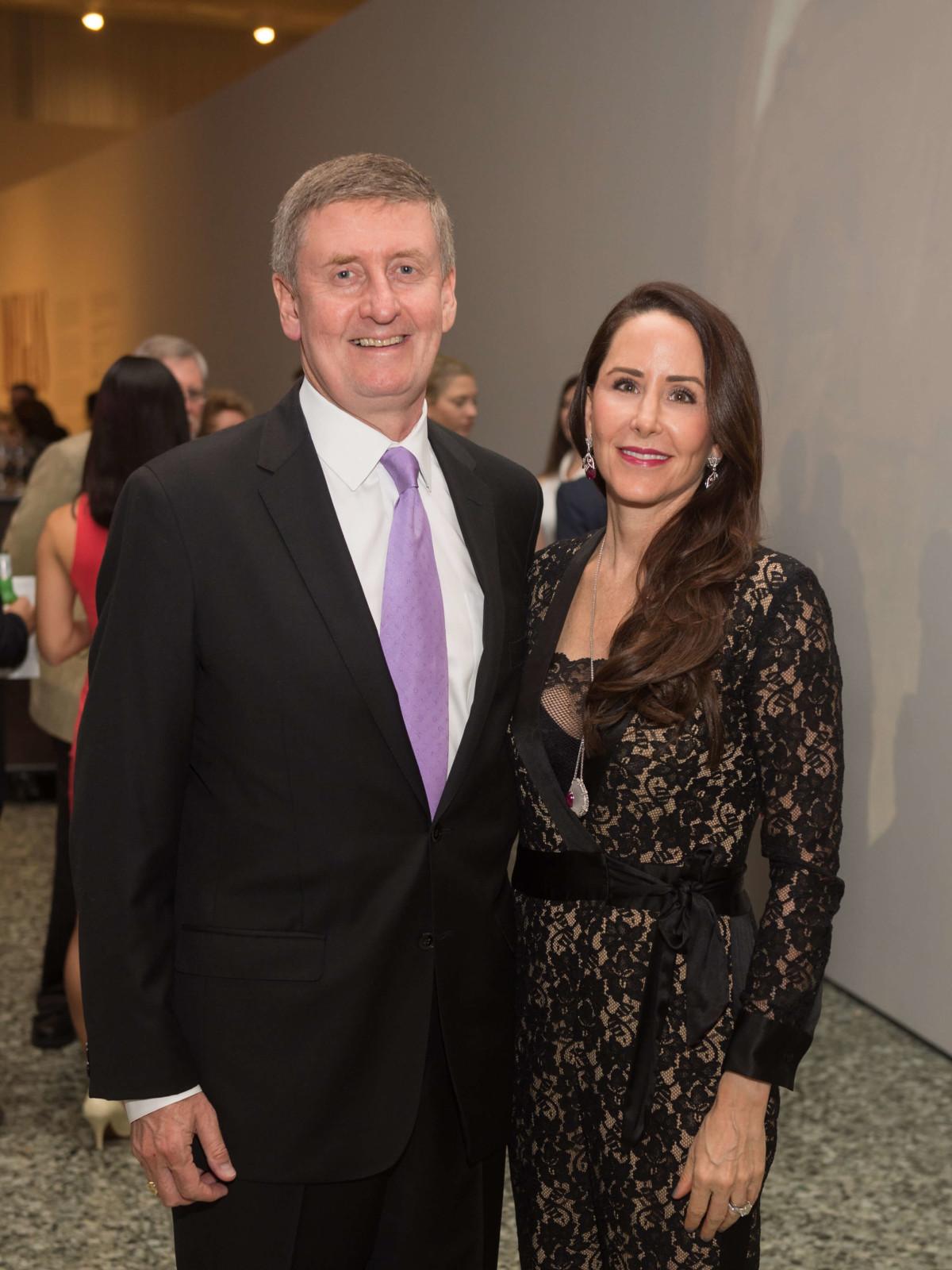 Degas Opening Dinner: Tom and Liz Glanville