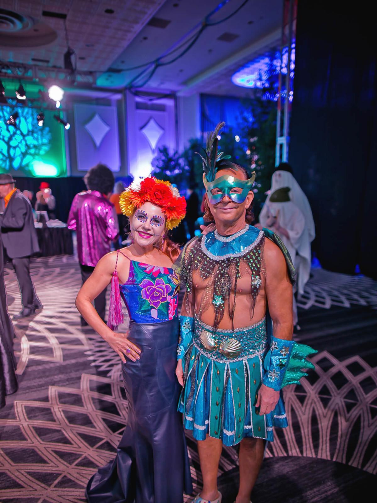 Dr. Penelope Marks, Lester Marks at Orange Show Gala