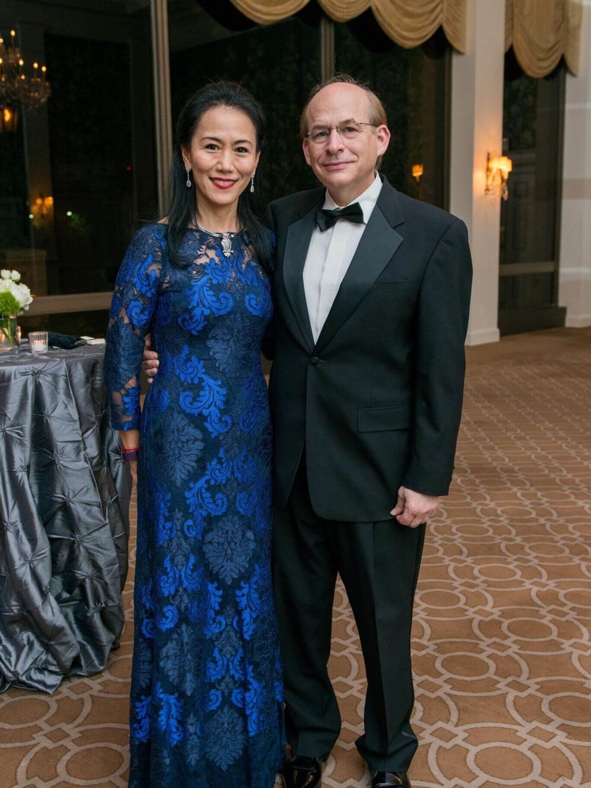 Y. Ping Sun, David W. Leebron at Rice Honors Gala