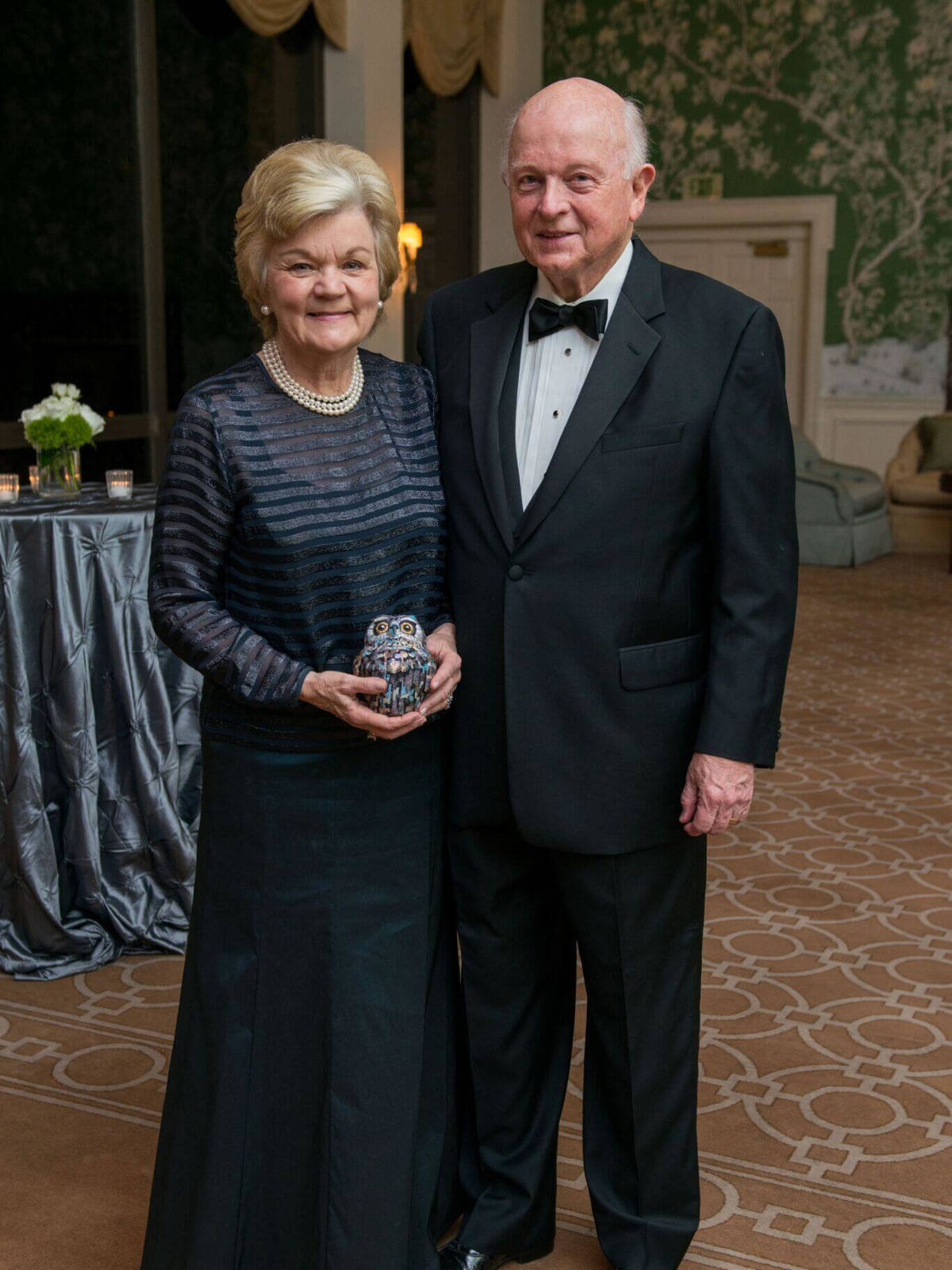 Melberneand Susanne Glasscock at Rice Honor Gala