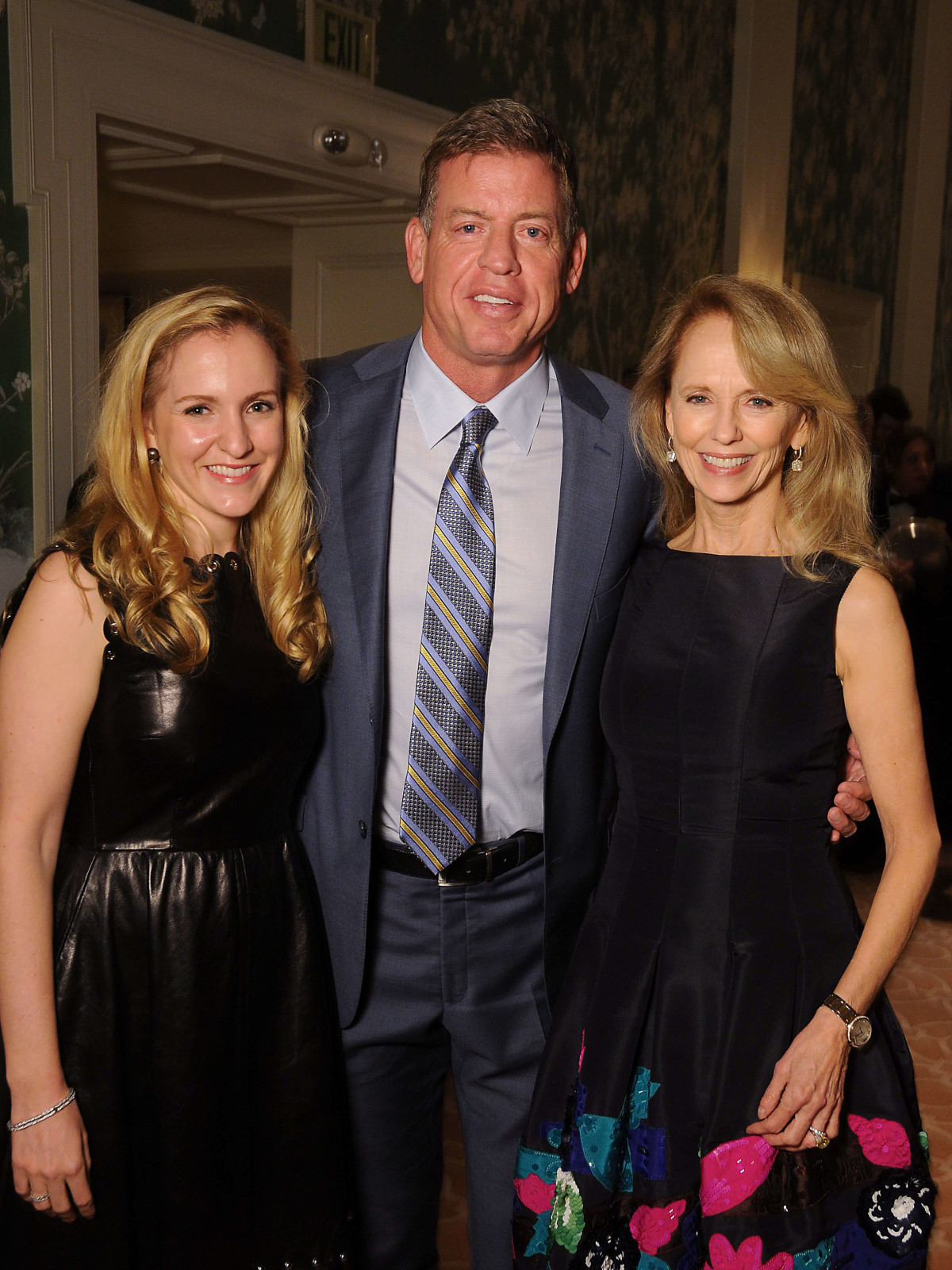 Kelly Krohn, Troy AIkman, co-founder Susan Sarofim/TEACH DINNER