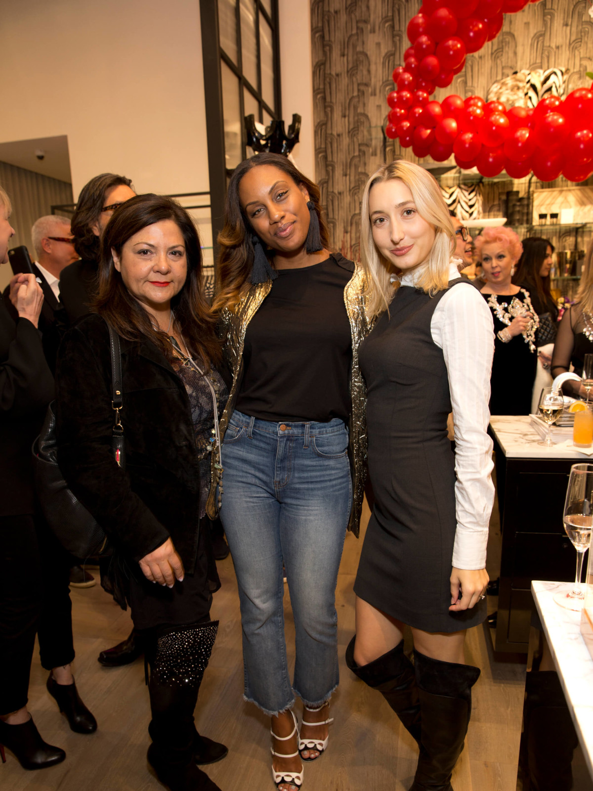 Forty Five Ten Houston opening, Antigone Vastakis, Kira Smith, Chiara Casiraghi-Brody
