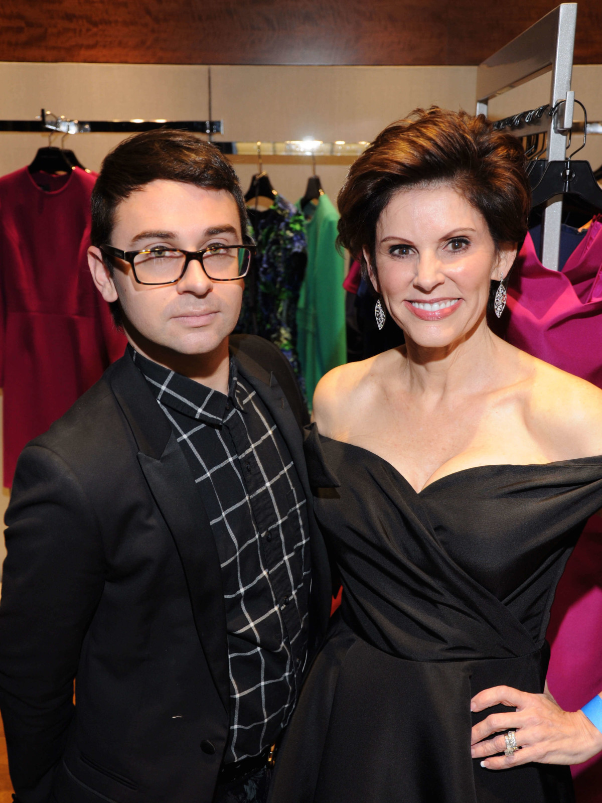 Christian Siriano, Linda Reid at Elizabeth Anthony