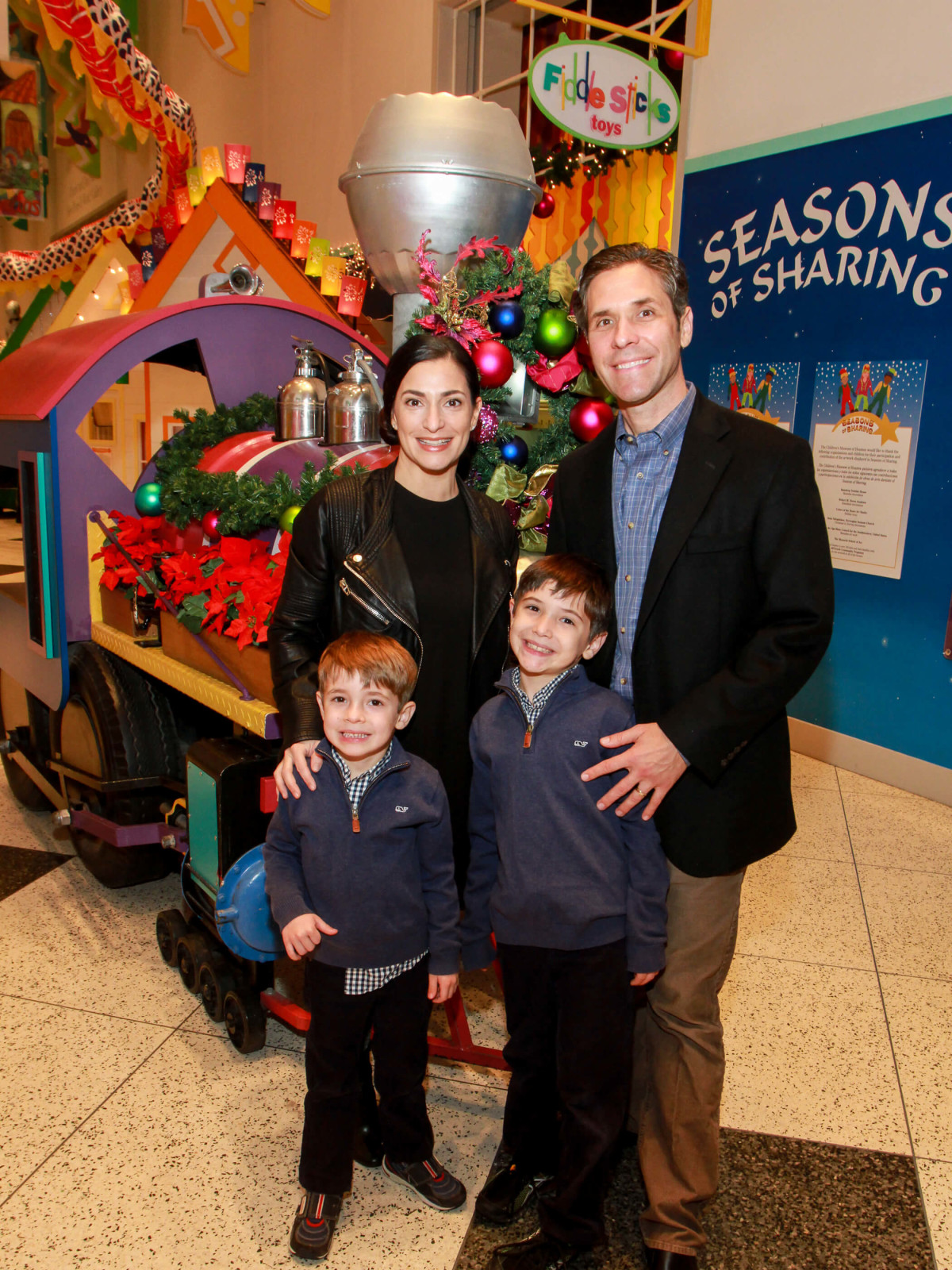 Children's Museum holiday, party, Candace Thomas, Brian Thomas and children
