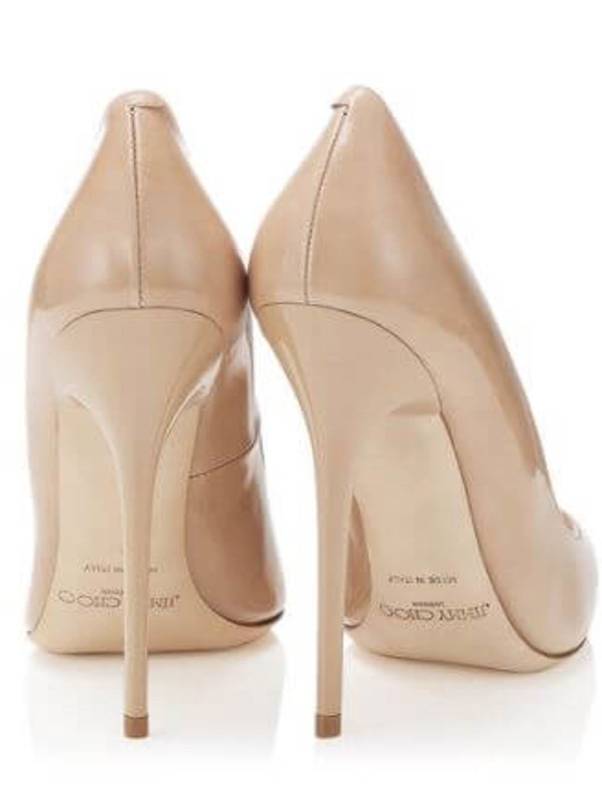 Jimmy Choo Nude Patent Stiletto Pump