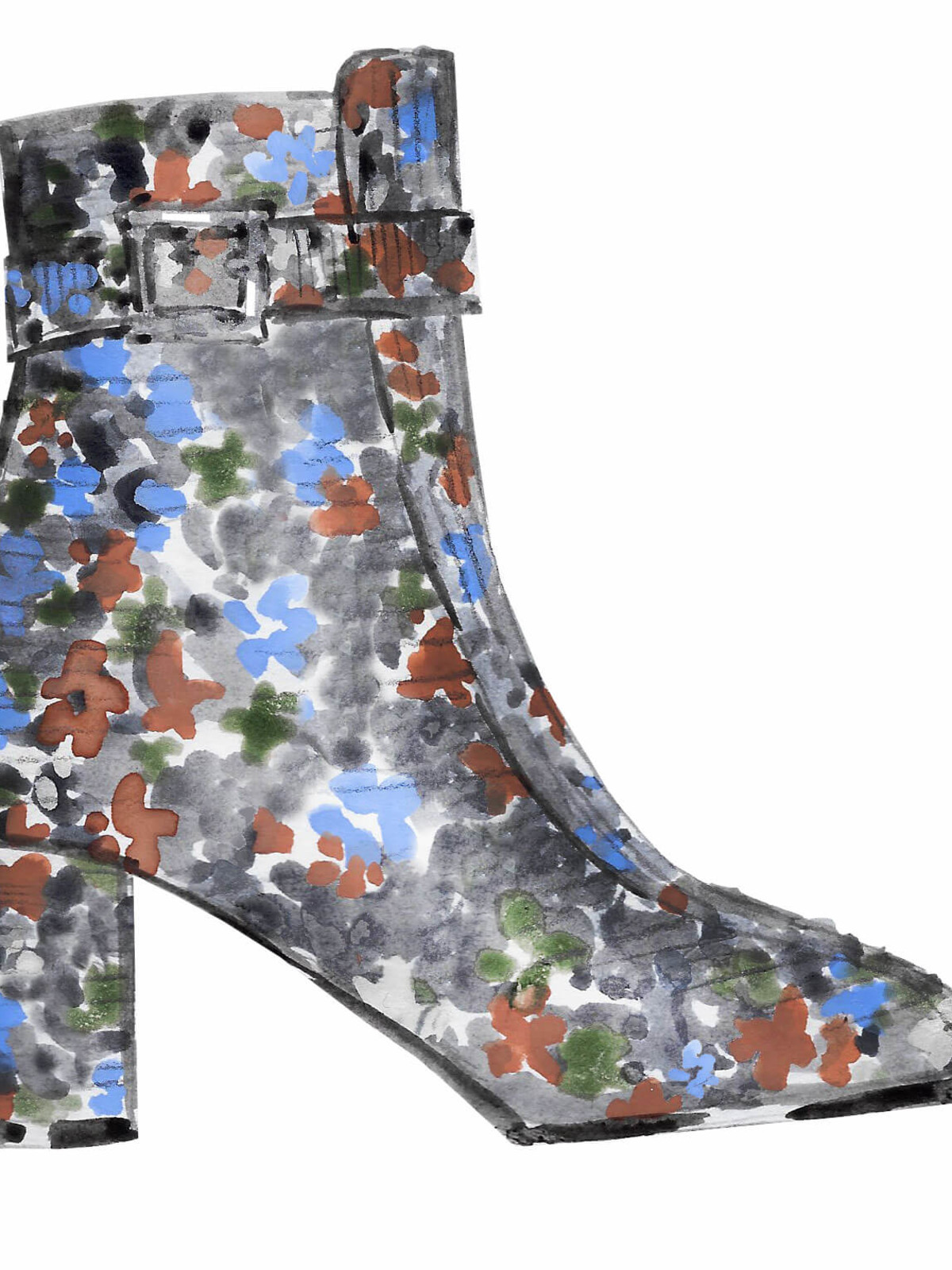 NewbarK footwear sketch New York Fashion Week fall 2017