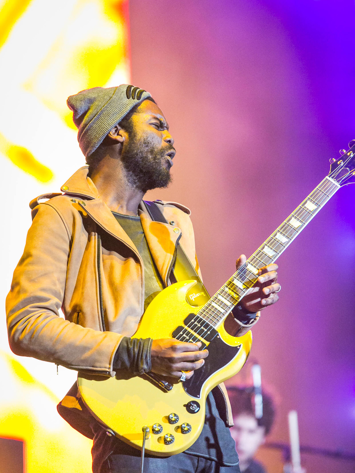 Gary Clark Jr. at Super Bowl LIVE