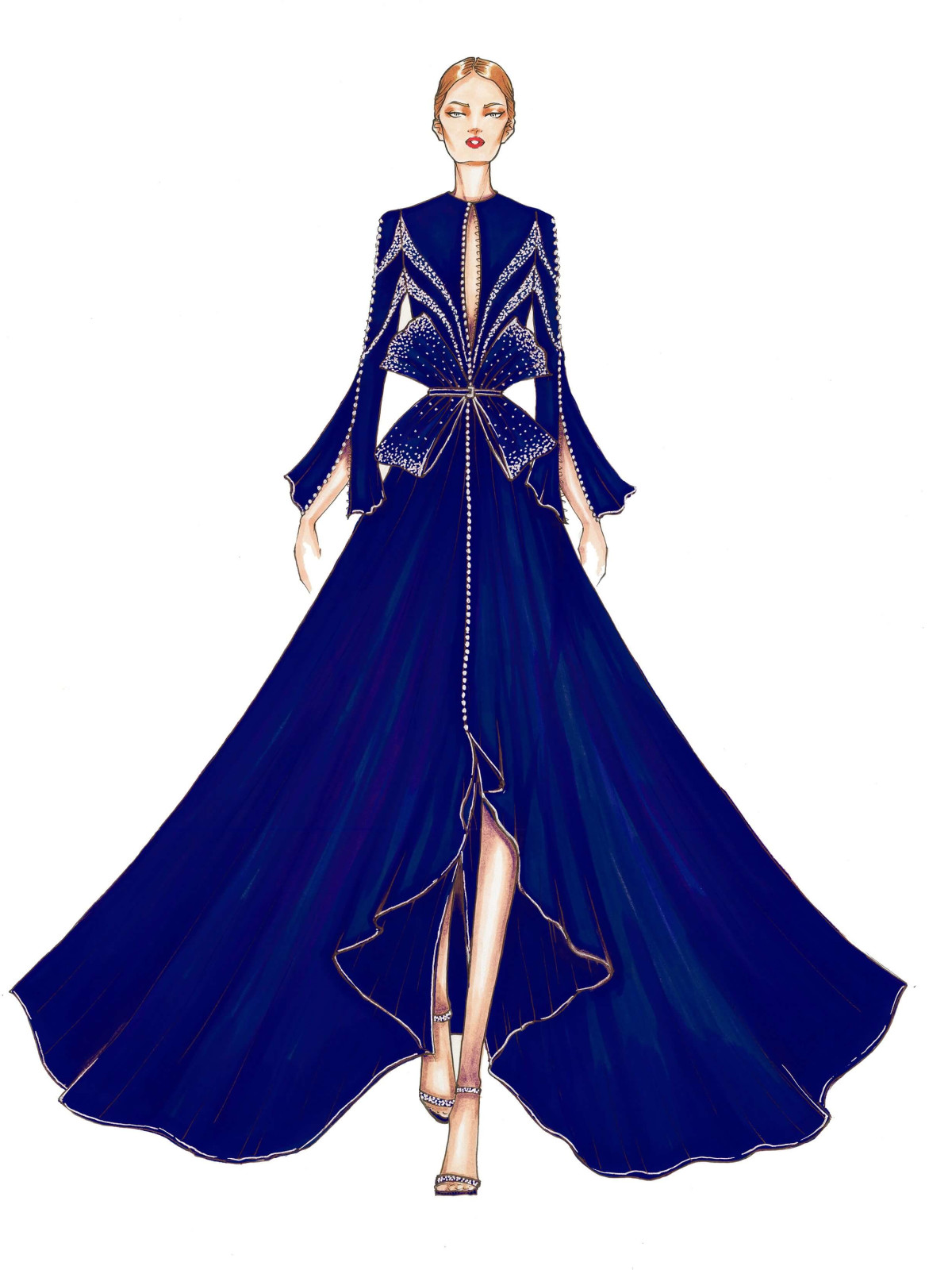 Oday Shakar designer inspiration sketch fall 2017